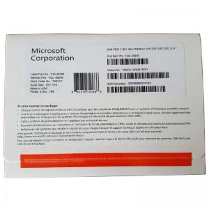 DVD Windows 7 Pro Pack 32/64bit OEM Product Key French Language