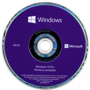 Microsoft Windows 10 installation de Pro version OEM italienne 1709 pack avec Keycode