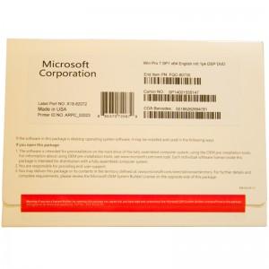 English Windows 7 Professional Commercial OEM 1PK DSP DVD FQC-80730