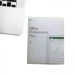 100% original MS Office 2019 Professional Plus Retail Box DVD*1 for 1 PC Multilingual